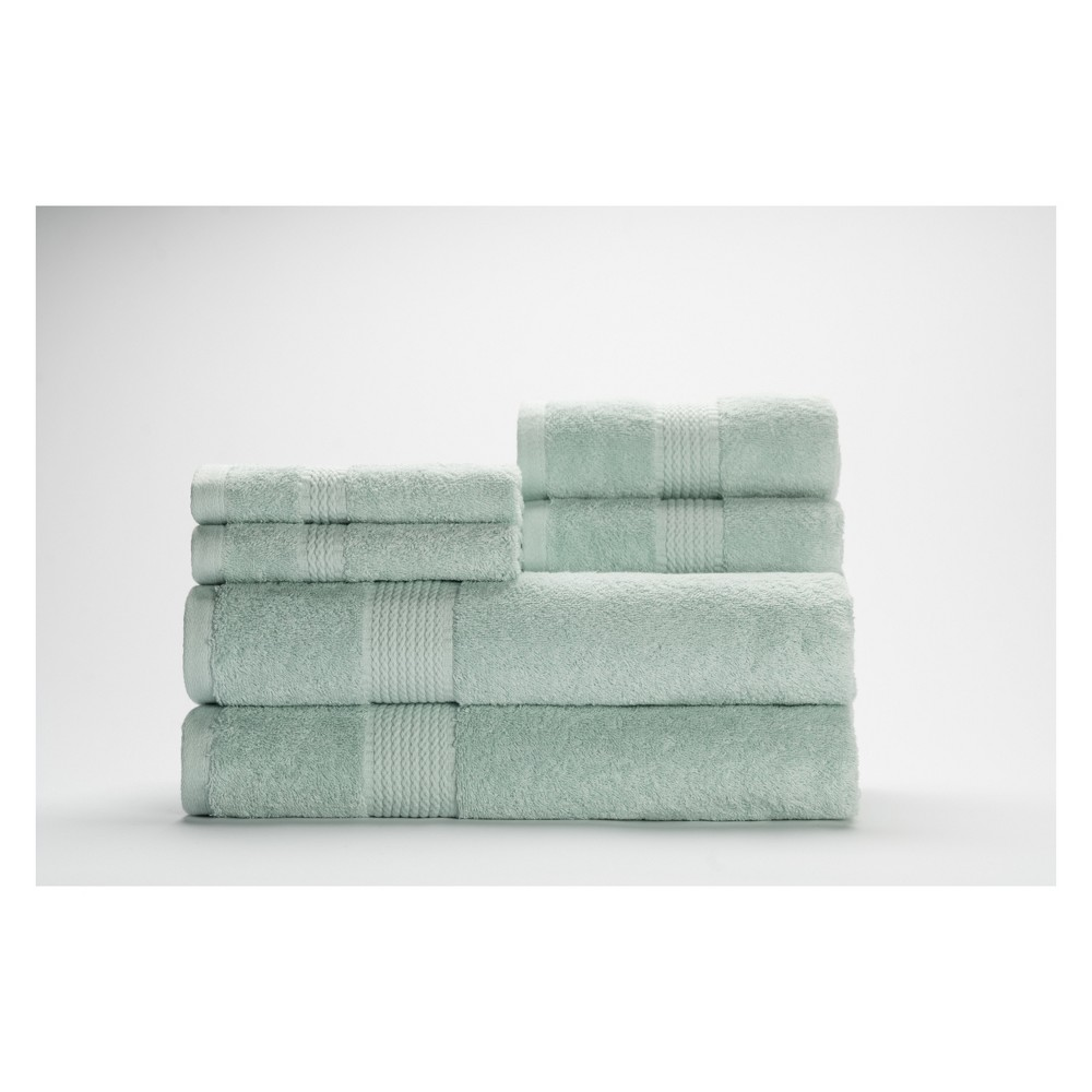 Image of 6pc Cromwell Mineral Green Bath Towels Sets - Caro Home