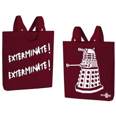 "Se7en20 Doctor Who Dalek ""Exterminate! Exterminate!"" Large Tote Bag"