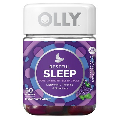 Olly Restful Sleep Zen Vitamin Gummies - Blackberry - 50ct
