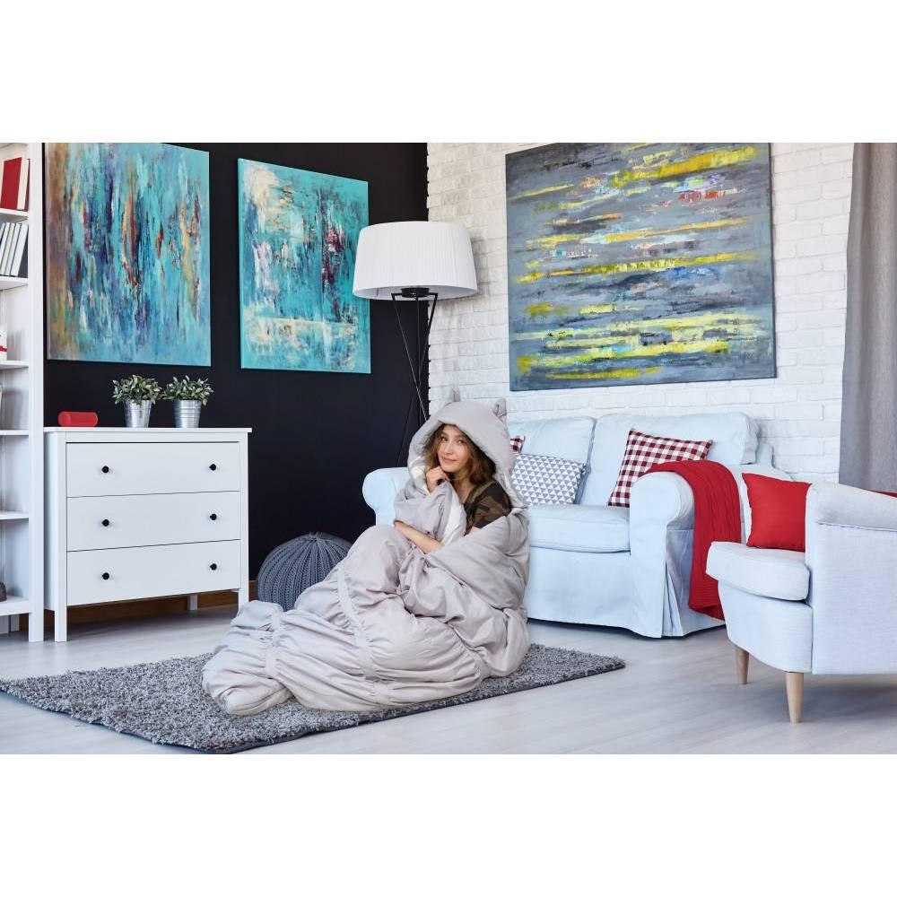 32 34 X75 34 Frankie Sleeping Bag Gray Chic Home Design