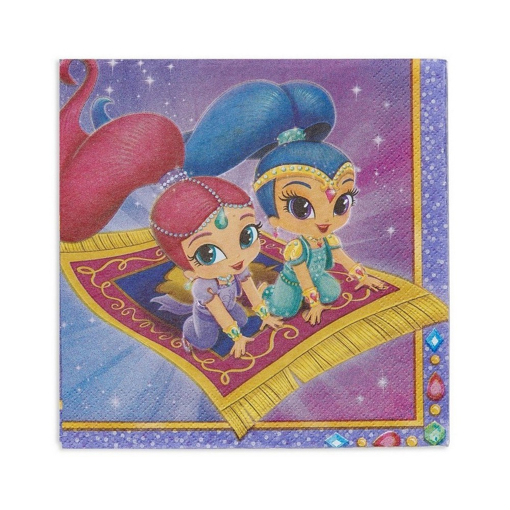 Shimmer And Shine Disposable Napkins - 16ct, Multi-Colored