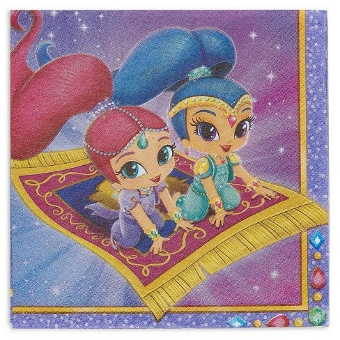 Shimmer And Shine Disposable Napkins - 16ct - image 1 of 3