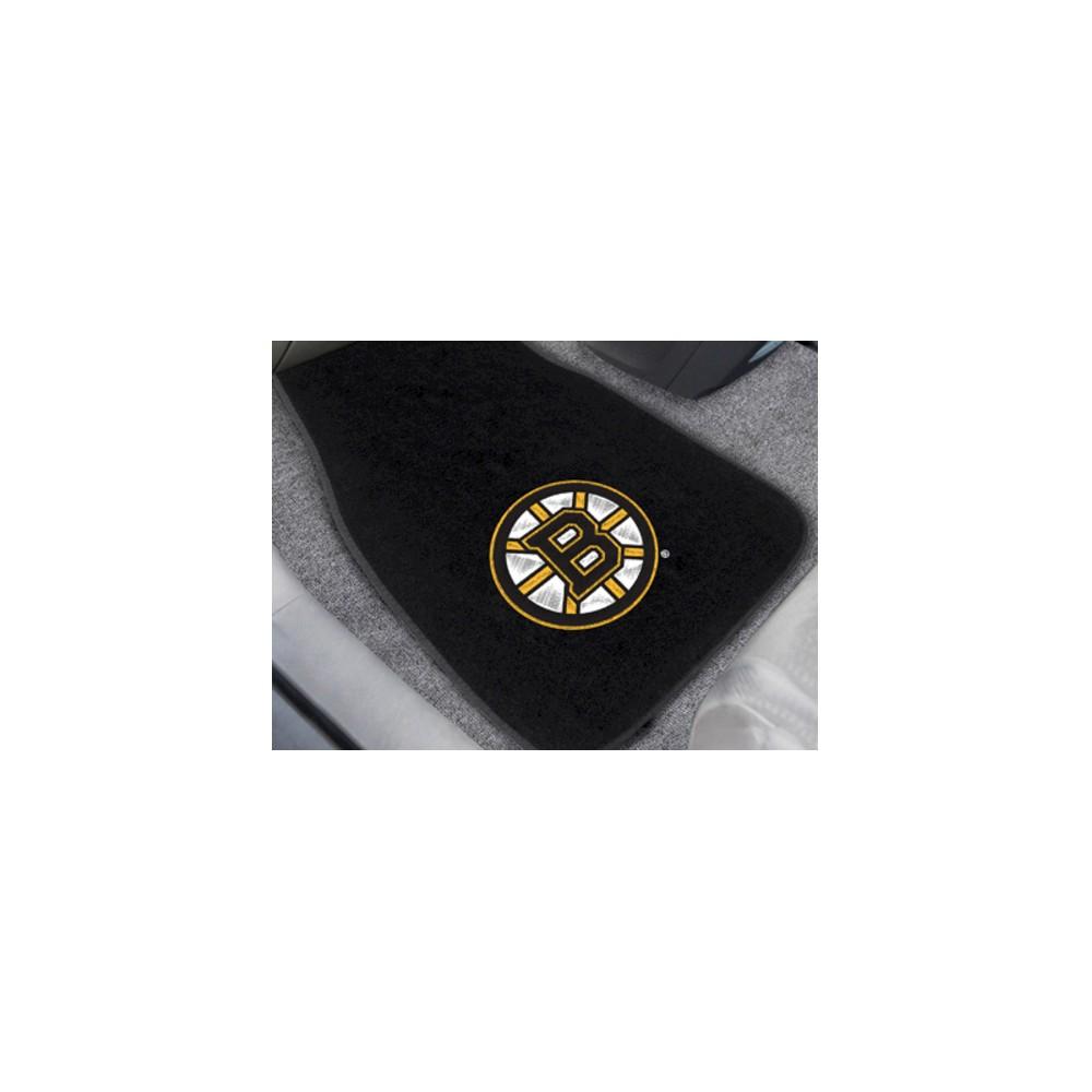 NHL Fan Mats 2-pc Embroidered Car Mat Set - Boston Bruins