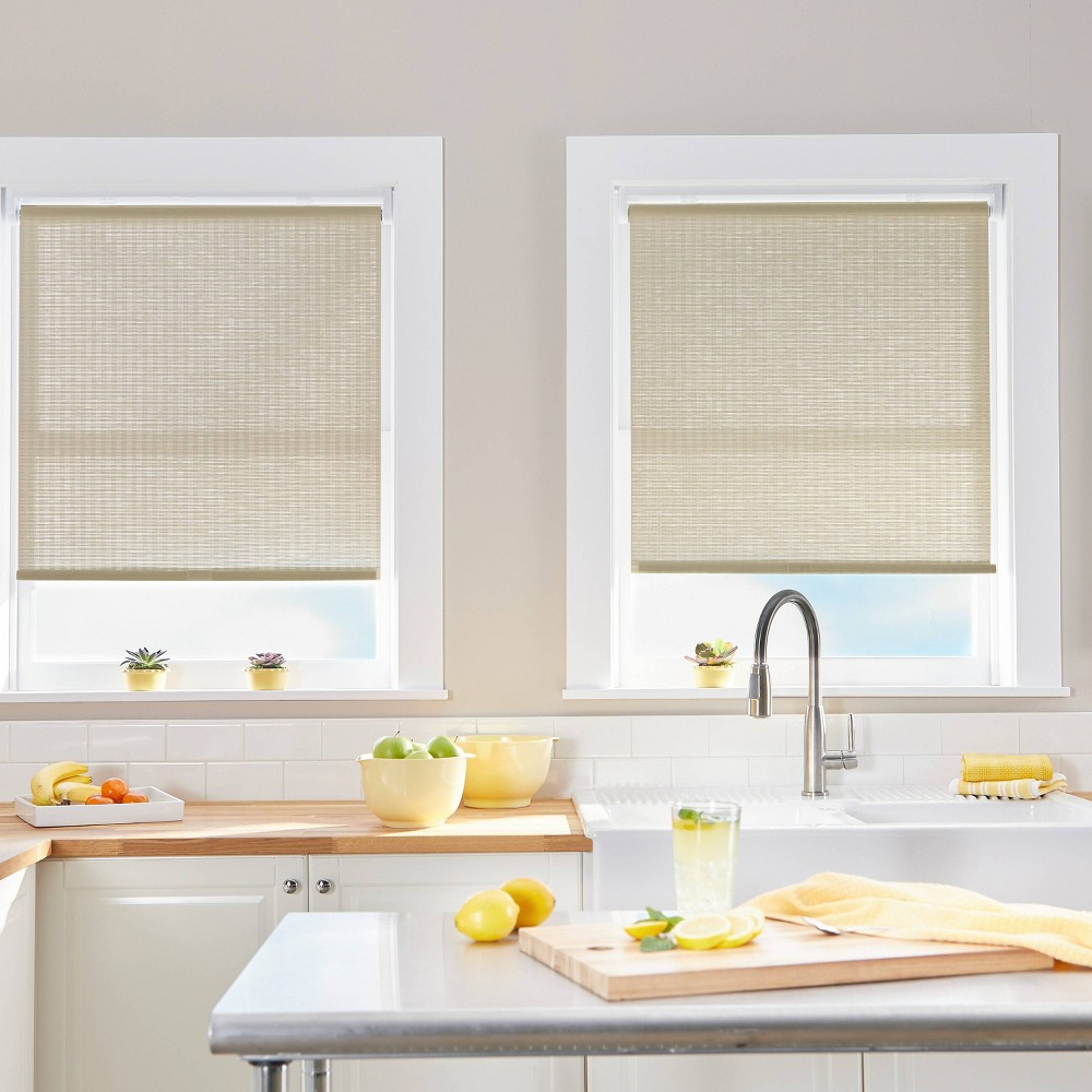 "Image of ""23""""x64"""" Light Filtering Window Shade Panel Linen - CHF Industries"""