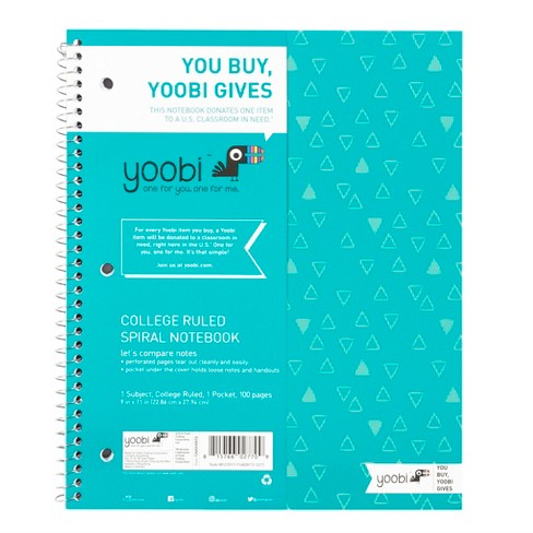 "Yoobi™ Spiral Notebook, College Ruled, 1 Subject, 8.5"" x 11"", 100 Sheets - image 1 of 3"