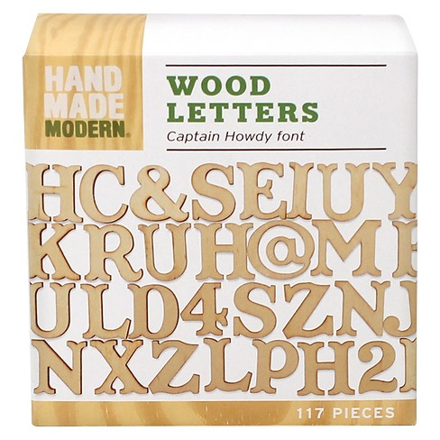 hand made modern wooden letters captain howdy