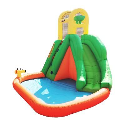 Magic Time International MT 91452 Large Splash Fun Giant Slide Backyard Inflatable Water Park Splash Pad with Auto Dump Bucket and Water Blaster