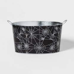 Spider Web Halloween Metal Beverage Tub - Hyde & EEK! Boutique™