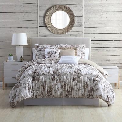 Modern Threads 6-Piece Printed Textured Comforter Set Bounty Floral.
