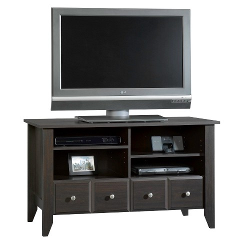 Shoal Creek Panel 2 Drawer TV Stand with Adjustable Shelves - Jamocha Wood - Sauder - image 1 of 1