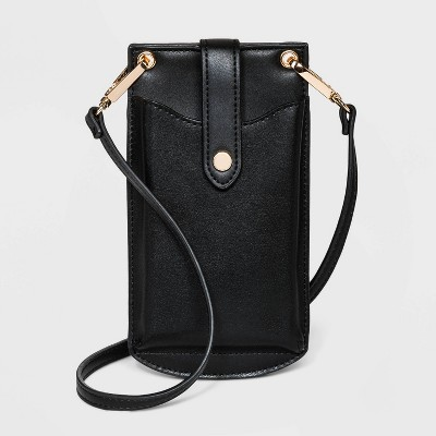 Snap Closure Vertical Wallet on String Crossbody Bag - A New Day™