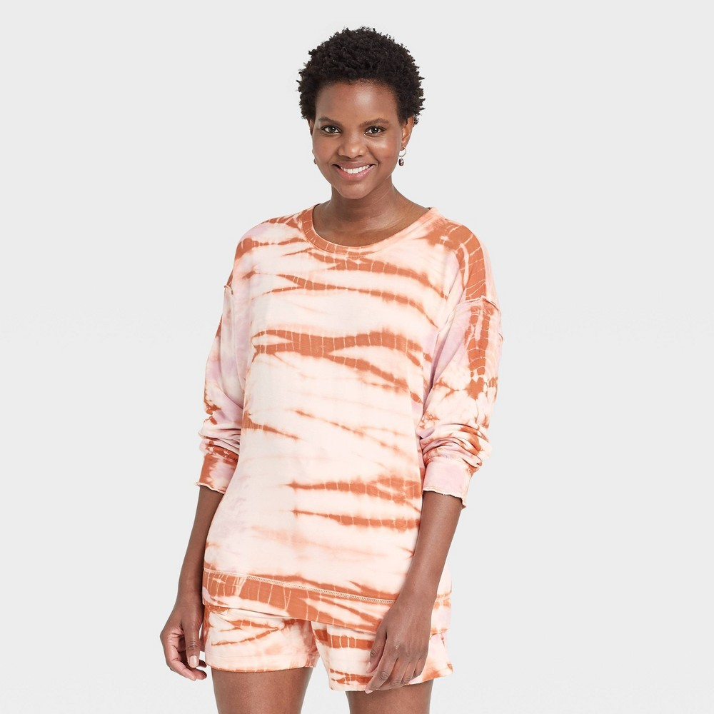 Women 39 S Tie Dye Sweatshirt Knox Rose 8482 Orange S