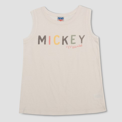 8f1162e4ed2ba Junk Food Girls  Mickey Mouse Tank Top - Ivory   Target
