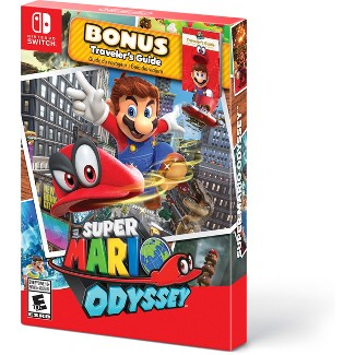 Super Mario Odyssey with Bonus Travelers Guide - Nintendo Switch