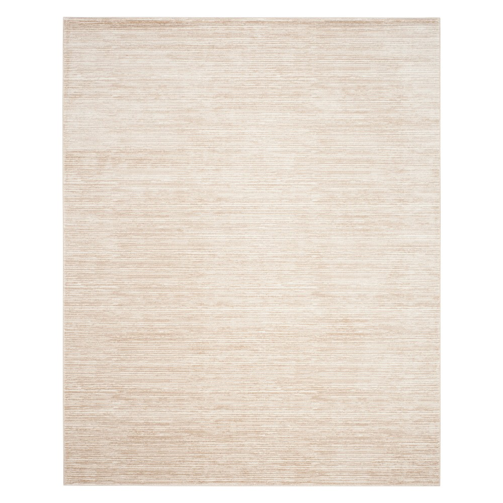Solid Loomed Area Rug Creme