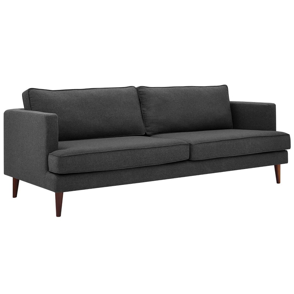 Agile Upholstered Fabric Sofa Gray - Modway