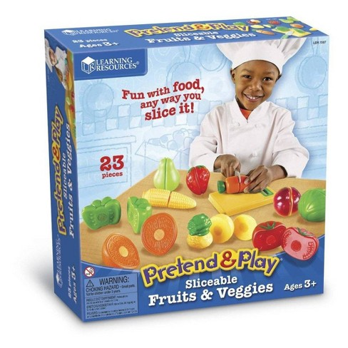 Learning Resources Pretend & Play Sliceable Fruits & Veggies - image 1 of 3