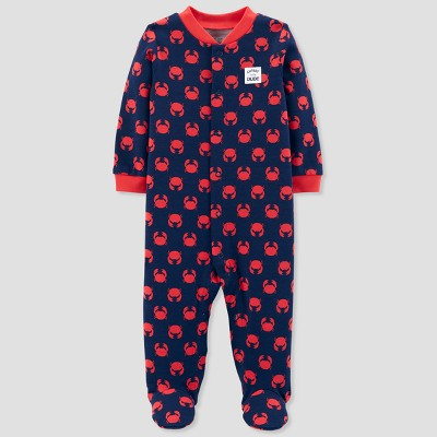 Baby Boys' Crab Cotton Sleep N' Play - Just One You® made by carter's Navy/Red 3M