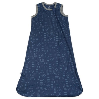 Honest Baby Organic Cotton Interlock Wearable Blanket - Pattern Play Navy S