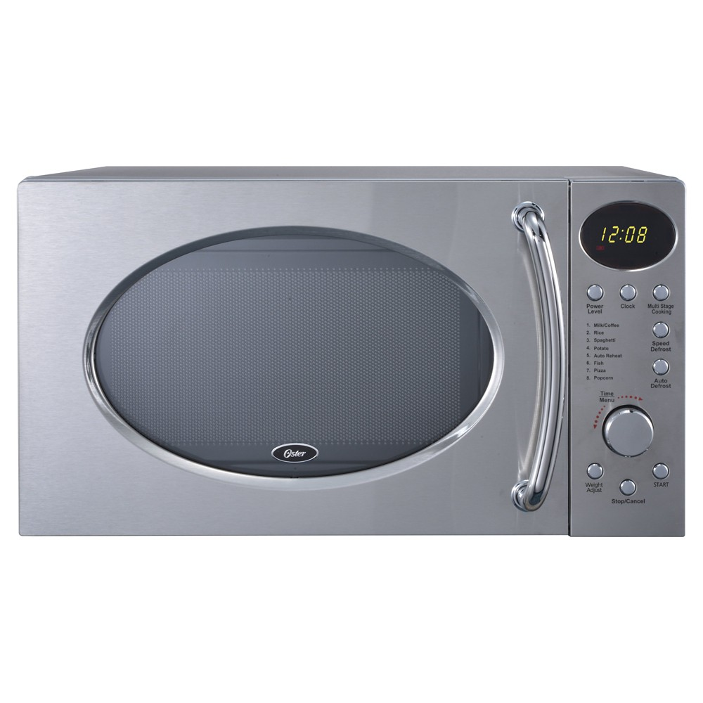 Oster 0.7 Cu. Ft. 700 Watt Microwave Oven - Chrome (Grey)