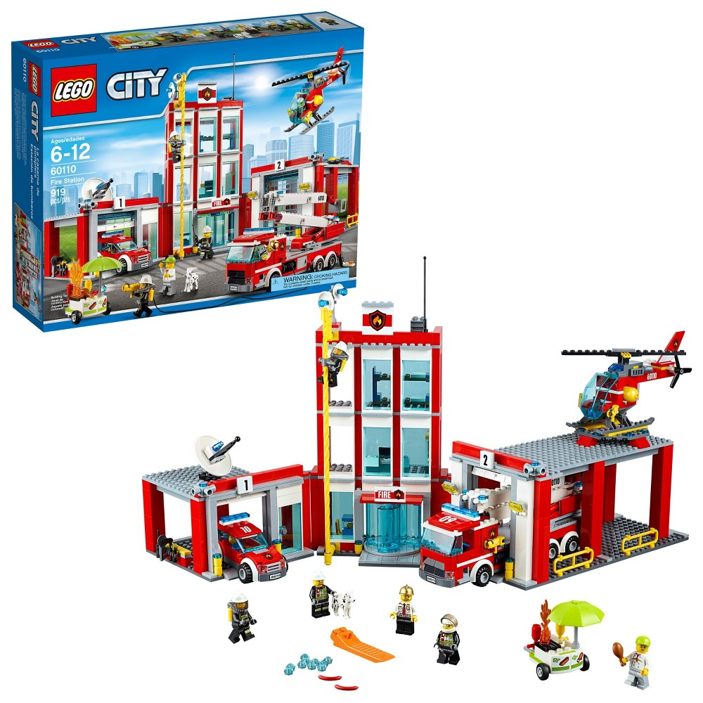 Lego City Garage Set Building Toys Compare Prices At Nextag 7642 Fire Station 60110