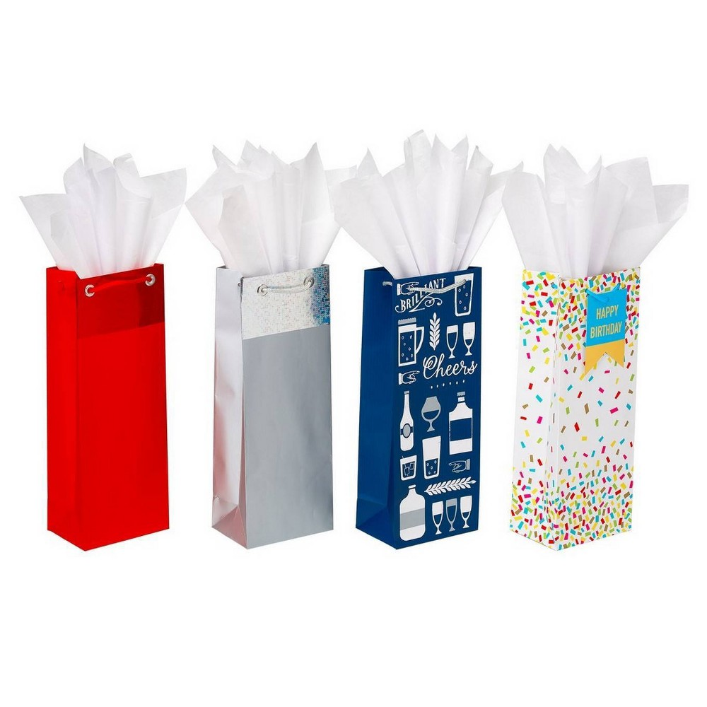 Image of Assorted Beverage Bag and Tissue Paper Bundle