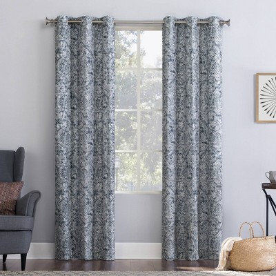 Kenji Medallion Draft Shield Fleece Insulated Energy Saving Grommet Top Room Darkening Curtain Panel - No. 918