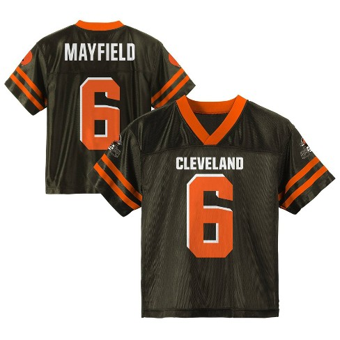 designer fashion 5e8ae d45fe NFL Cleveland Browns Boys' Mayfield Baker Jersey