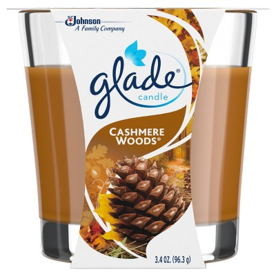 Glade Jar Candle Air Freshener, Cashmere Woods, 3.8oz