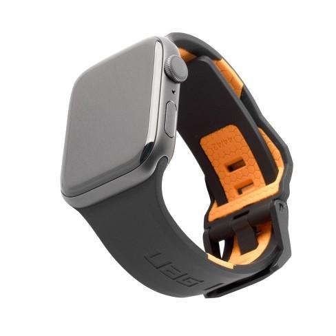 Urban Armor Gear (UAG) Apple Watch 42/44mm (Series 6/5/4 & Watch SE) Civilian Strap - Black/Orange - image 1 of 4
