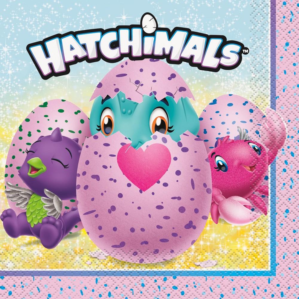 Image of 16ct Hatchimals Lunch Napkins