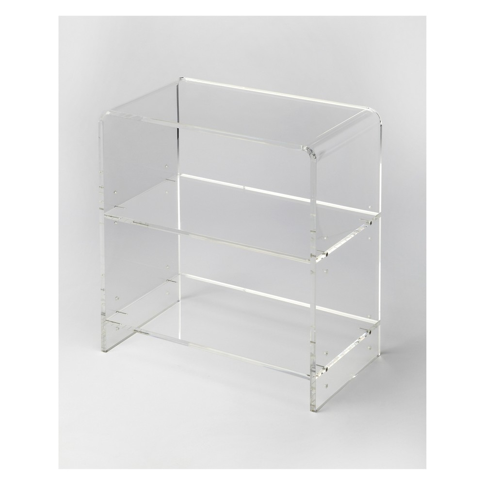 "Image of ""25"""" Crystal Bookcase Acrylic Clear - Butler Specialty"""