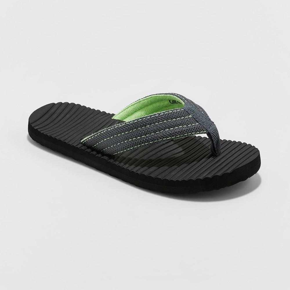 Image of Boys' Willis Flip Flop Sandals - Cat & Jack Green 13-1, Boy's