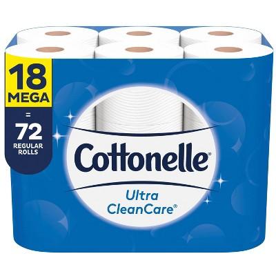 Cottonelle Ultra CleanCare Toilet Paper - 18 Mega Rolls