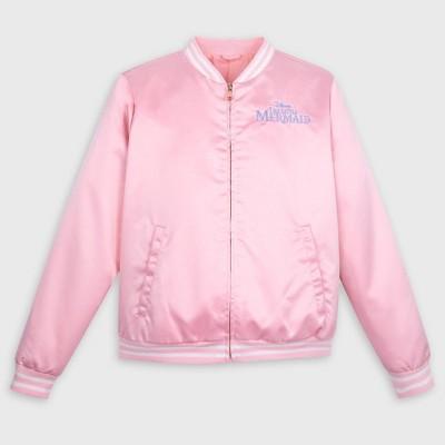 Women's Disney The Little Mermaid Ariel Bomber Jacket - Pink - Disney Store