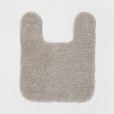 Perfectly Soft Nylon Solid Contour Bath Rug Gray - Opalhouse™