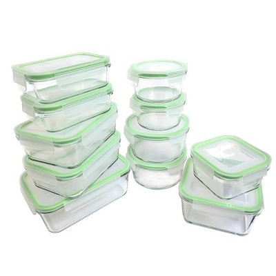 Kinetic GoGreen Glassworks 22-Piece Oven Safe Glass Food Storage Container Set with Lid