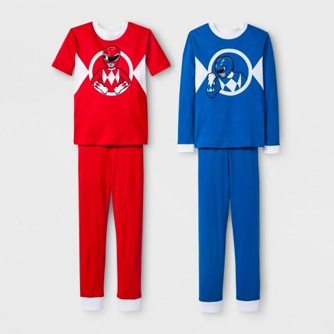 b9ce6a464 Boys  Power Rangers 4pc Pajama Set - Red Blue   Target