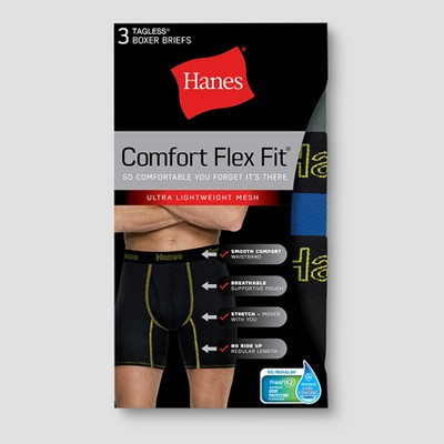 Hanes Men's Comfort Flex Fit Lightweight Mesh Boxer Briefs 3pk by Hanes