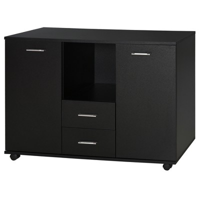 Vinsetto Multifunction Office Storage Cabinet Printer Stand with 2 Drawers, 2 Shelves, & Smooth Counter Surface