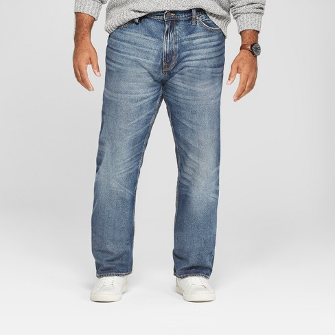 Men's Big & Tall Straight Fit Jeans - Goodfellow & Co™ Medium Vintage Wash - image 1 of 3