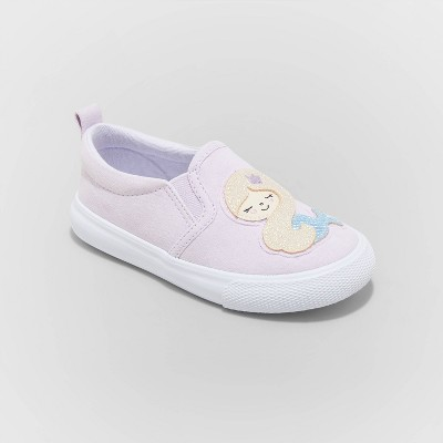 Toddler Girls' Shasta Twin Gore Slip-On Mermaid Sneakers - Cat & Jack™ Purple