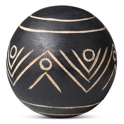 Carved Wood Ball - Large - Threshold™