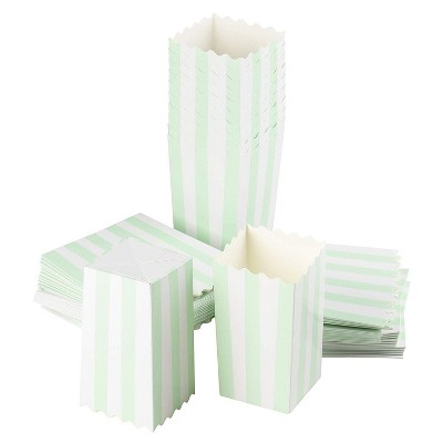 Blue Panda 100-Pack Paper Popcorn Boxes Treat Boxes for Wedding Party Favors, Movie Night (Mint 3.3x5.5x3.3 In)