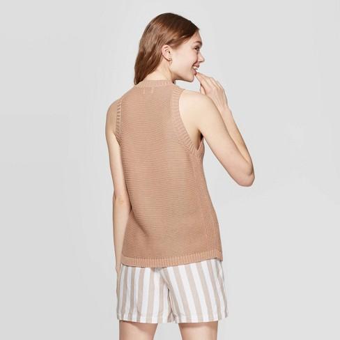 54122789adf8 Women's Sleeveless Crewneck Halter Sweater Tank Top - A New Day ...