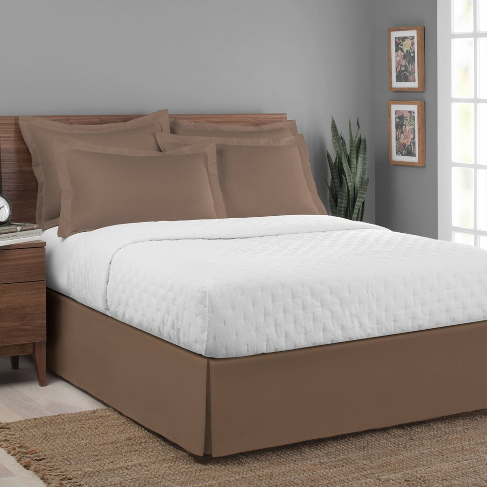 Image of Luxury Hotel California King Classic Tailored Bed Skirt Mocha