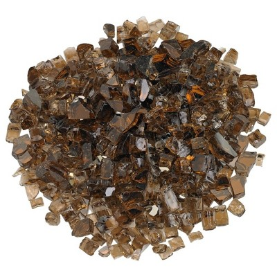 American Fireglass 10 LB Bag 1/2 Inch Reflective Fireplace & Firepit Fire Glass, Copper