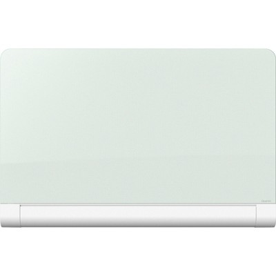 Quartet Horizon Magnetic Glass Marker Board with Hidden Tray 39 x 22 White G3922HT