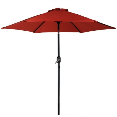 7.5' Aluminum Tilt Patio Umbrella - Burnt Orange - Sunnydaze Decor