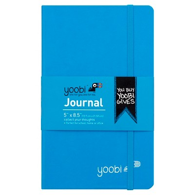 Yoobi™ Hardcover Journal - Blue, 5.2  x 8.5 , 80 Sheets